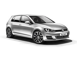 Masina Volkswagen Golf 7 noua pe motorina, cu 10 airbaguri, comenzi pe volan, climatronic si cauciucuri de sezon pentru inchiriat.